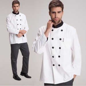 New-Kitchen-Chef-Long-sleeved-Clothing-Hotel-Work-Wear-Restaurant-Work-clothes-Food-Service-Uniform-Cook